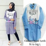 Fashion hijab tunik katun