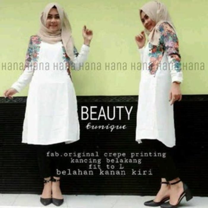 beauty tunik jersey seri 60500 reseller 66500
