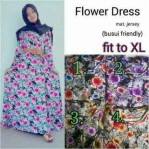 flowers dress jersey super