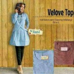 velove love tunik katun denim