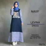 levina navy dress