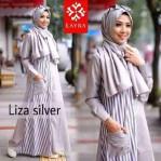 liza silver dress katun