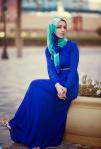 blue dress jersey