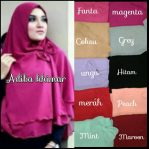Adiba khimar cerutty 2 layer