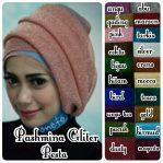 Pashmina gliteer pesta soft knit