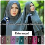 Khimar zaina non pad cerutty 2 layer
