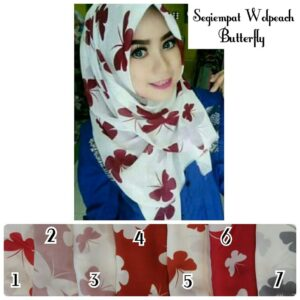 Segiempat butterfly satin silk