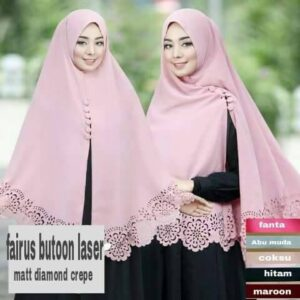 Khimar fairus button lasser bubble pop