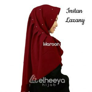 Instan lazany bubble pop MAROON by elheeya hijab