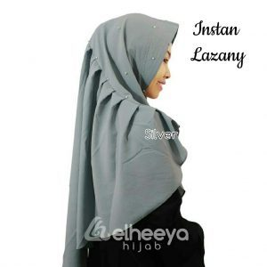 Instan lazany bubble pop SILVER by elheeya hijab