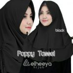 Instan poppy tassel bubble pop BLACK by elheeya hijab
