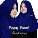 Instan poppy tassel bubble pop NAVY by elheeya hjab