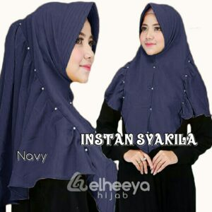 Instan syakila diamond navy by elheeya hijab