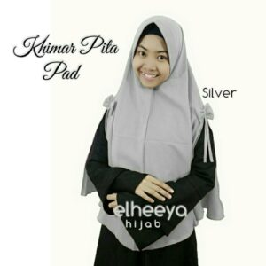 Khimar pita pad bubble pop SILVER by elheeya hijab