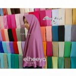 Khimar simple pad bubblepop dusty ungu by elheeya hijab