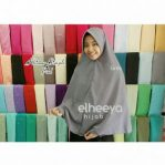 Khimar simple pad grey bubblepop by elheeya hijab