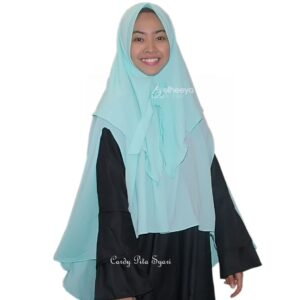 Jilbab cardy pita syar'i bubble pop by elheeya hijab
