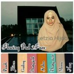 Jilbab instan flowing pad 2 face diamond