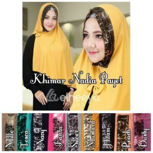 Khimar nadia payet jersey by elheeya hijab