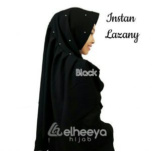 Instan lazany buble pop BLACK by elheeya hijab