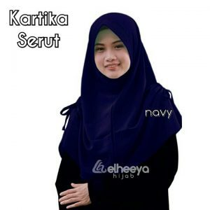 Instan kartika serut bubble pop NAVY by elheeya hijab