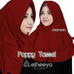 Instan poppy tassel bubble pop MAROON by elheeya hjab