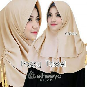 Instan poppy tassel bubble pop COKSU by elheeya hijab