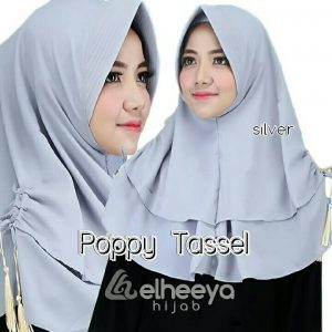 Instan poppy tassel bubble pop SILVER by elheeya hijab