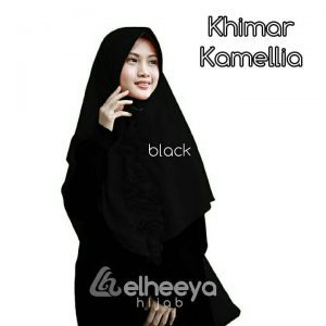 Khimar kamellia diamond BLACK by elheeya hijab