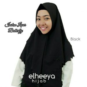 Instan laser butterfly diamond BLACK by elheeya hijab