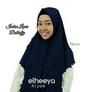 Instan laser butterfly diamond NAVY by elheeya hijab