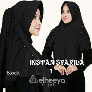 Instan syakila diamond black by elheeya hijab
