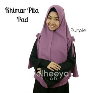 Khimar pita pad bubble pop PURPLE by elheeya hijab