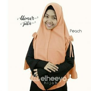 Khimar pita pad bubble pop PEACH by elheeya hijab