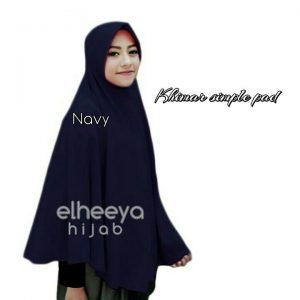 Khimar simple pad bubble pop NAVY by elheeya hijab