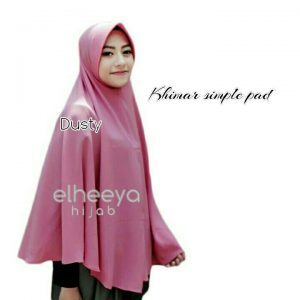 Khimar simple pad bubble pop DUSTY by elheeya hijab