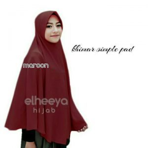 Khimar simple pad bubble pop MAROON by elheeya hijab