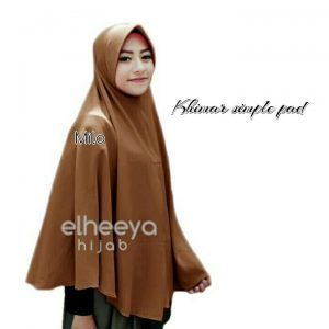 Khimar simple pad bubble pop MILO by elheeya hijab