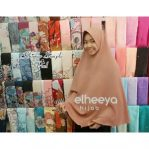Khimar simple pad bubblepop mocca by elheeya hijab