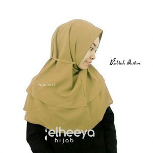 Rubiah instan diamond 2 layer mustard by elheeya hijab