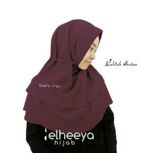 Rubiah instan diamond 2 layer dusty ungu by elheeya hijab