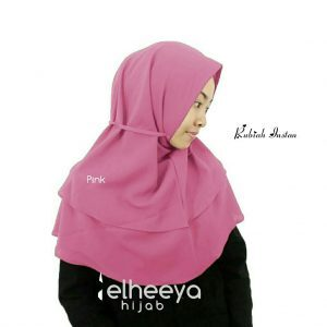Rubiah instan diamond 2 layer pink by elheeya hijab