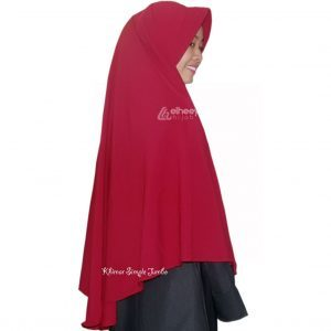 Khimar simple jumbo bubble pop by elheeya hijab