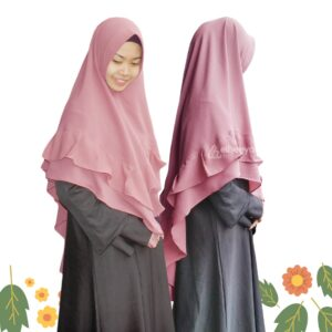 Khimar Syar'i Remple Dusty By elheeya hijab
