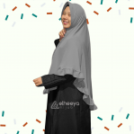 Khimar Best Seller Jumbo Remple Grey