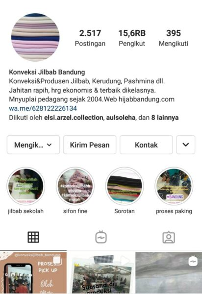 Instagram Konveksi Jilbab Bandung